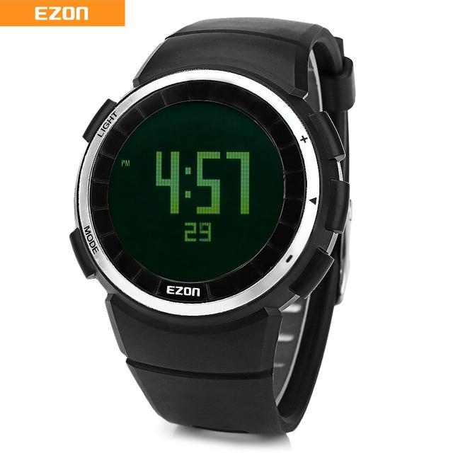 EZON T029 Hombres Digital Reloj Podómetro Calorías Cronómetro Alarma Profesional Running Sport Reloj de Pulsera