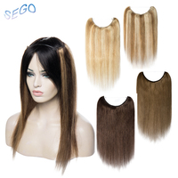 SEGO Straight Piano Pure Color 18 Inches Wire Human Hair Extensions Invisible Wire Flip in Hair Extensions Non Remy Hair