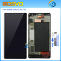 High quality Replacement full screen for Nokia Lumia 730 735 LCD display with touch screen digitizer with frame assembly+tools