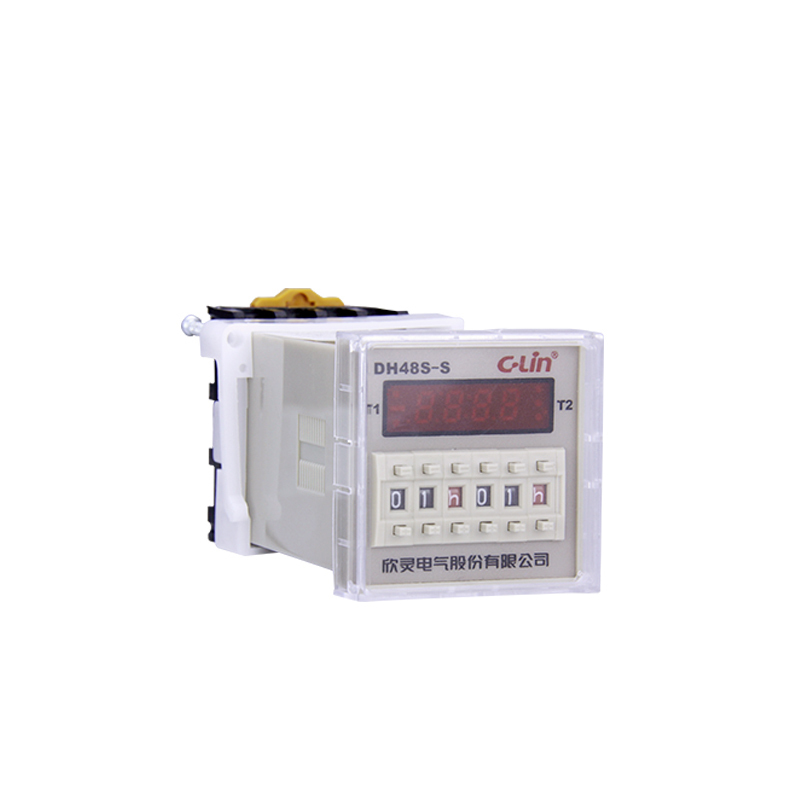 Relay DH48S-S Time Relay Loop Time Delay Number Show Both Set Up Timer With JSS48A-S hhs6a correct time countdown intelligence number show time relay bring power failure memory ac220v