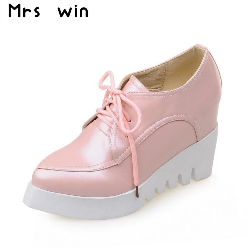 2016 new spring autumn high-heeled shoes sexy wedges heels platform pumps poined toe lace up casual shoes woman new women pumps transparent wedges high heels ankle pointed toe high heels pring autumn sexy shoes woman platform pumps
