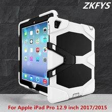 Fashion Tablet Case For Apple iPad Pro 12.9 inch 2017 2015 Tablet Case Drop resist Hybrid Armor Kickstand PC Silicone Skin Cover цена в Москве и Питере