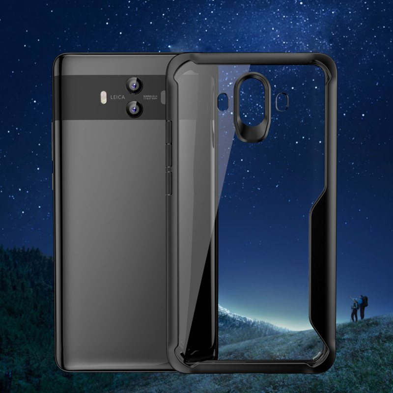 1Pcs Luxury Mobile Phone Cases for Huawei Mate10 Mate10proTransparent Drop Protection Case in Half wrapped Cases from Cellphones Telecommunications
