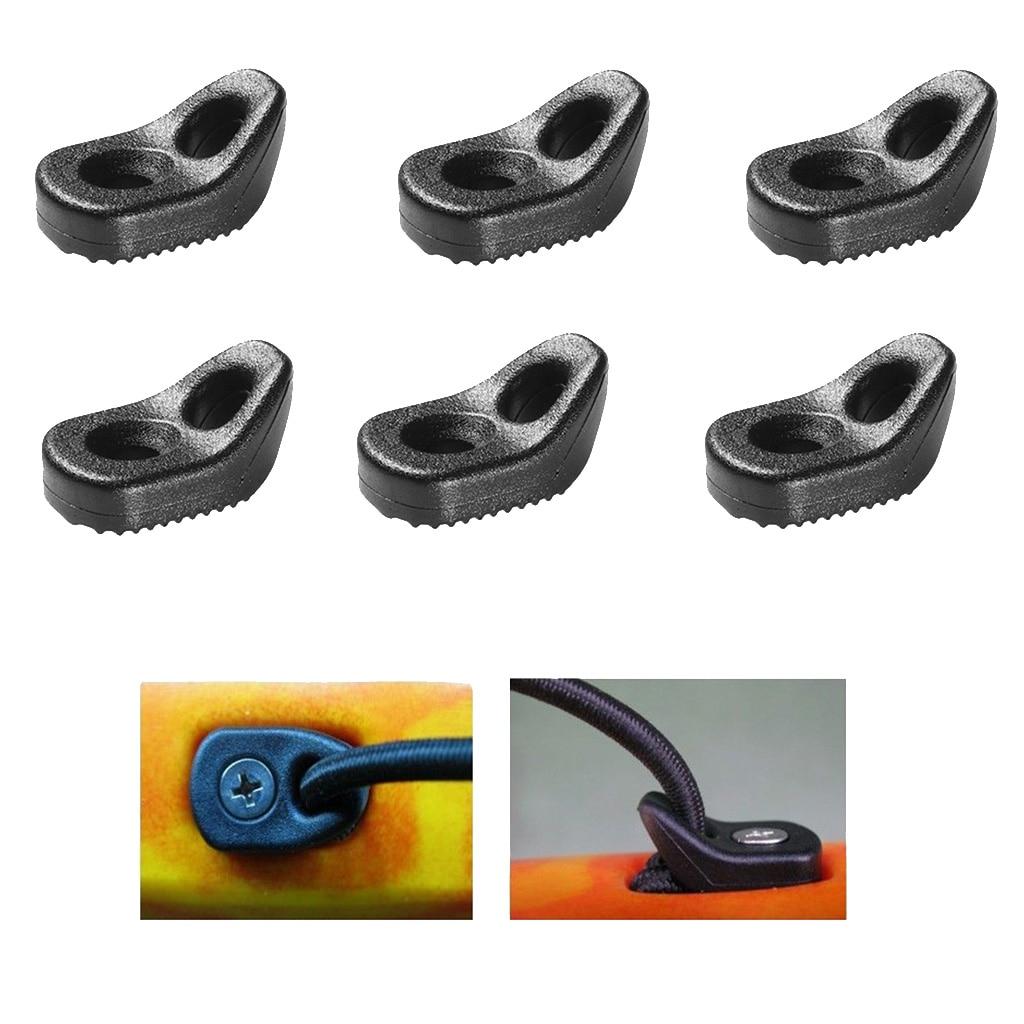 6Pcs Canoe D Ring Nylon Single Eyelet Tie Down Loop Deck Bungee Fitting Kayak Replacement Accessories