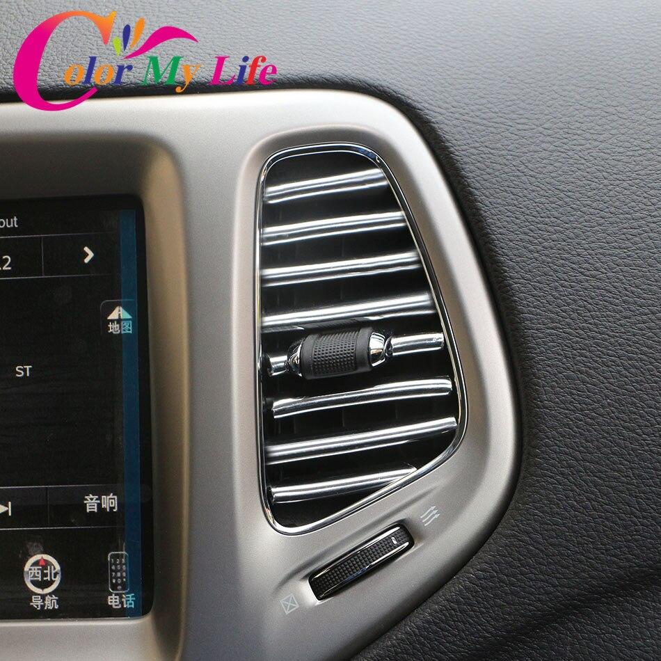 1M Car Air Conditioner Outlet Vent Grille Decoration Strip Trim for Skoda Superb Octavia RS Combi Scout Fabia Rapid Roomster