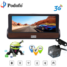 Podofo 3G 7″ Car GPS DVR Camera Android 5.0 Dash Camera Full HD 1080P Video  Recorder With Rear view Camera  Wifi Dual Lens