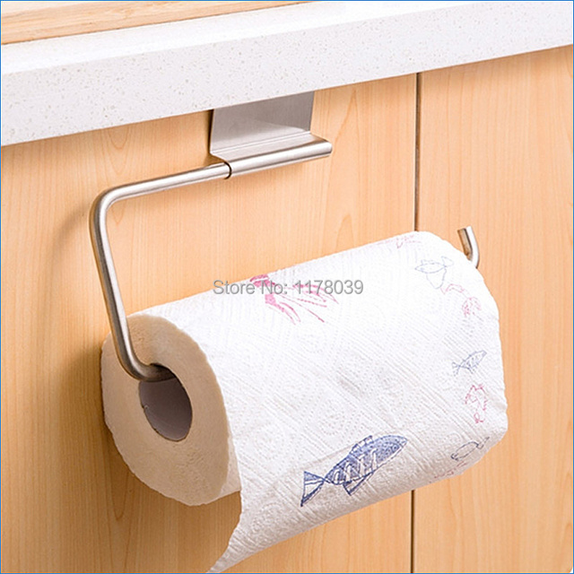 Stainless Steel Back Door Hanging Roll Paper Holder,Restaurant Kitchen  Paper Towel Holder,tissue