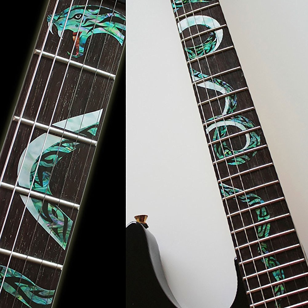 Fretboard Markers Inlay Sticker Decals for Guitar - Twisted Snake electric acoustic guitar inlay sticker fretboard markers scale decal sricker us v