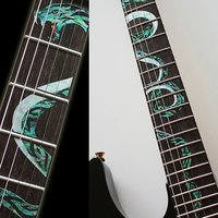 Manche Marqueurs Inlay Autocollant Stickers pour Guitare-Twisted Serpent
