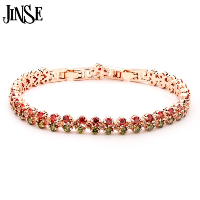 Pulsera Brazalete De Oro Rosa Diseñador Estilo Cristal Disco señoras para mujer