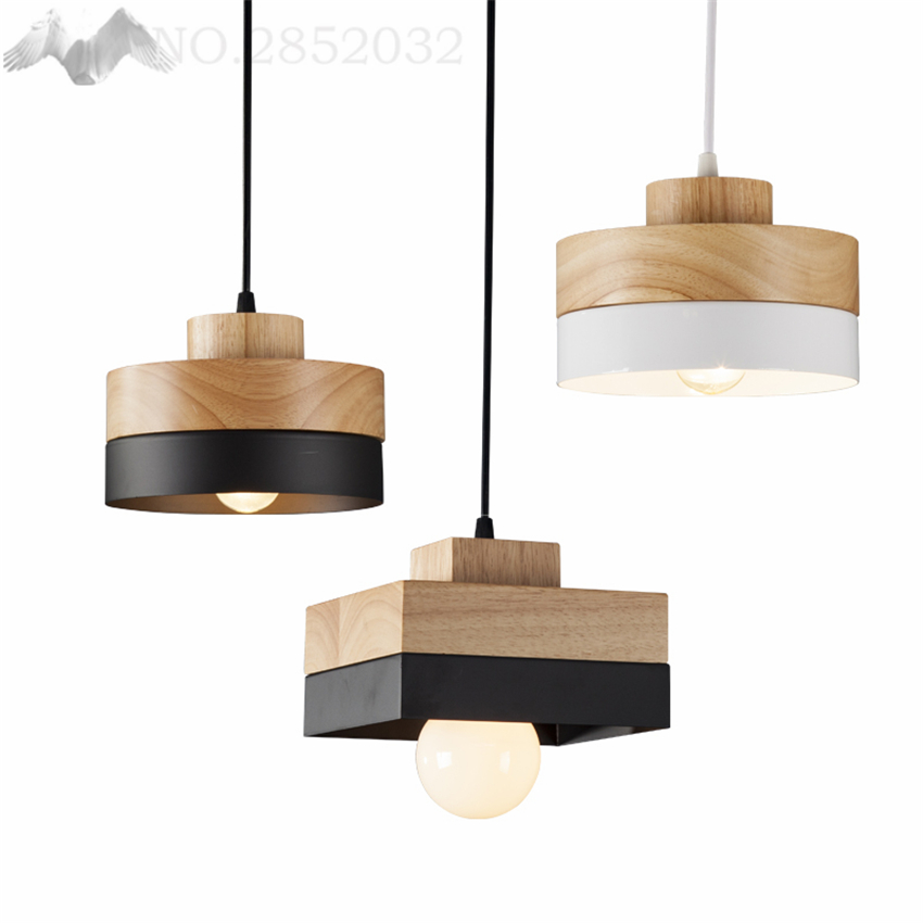 Nordic Style Art Industrial LOFT Pendant Lights American Retro Modern Minimalist Wood Lamps for Restaurant Bar Cafe Living RoomNordic Style Art Industrial LOFT Pendant Lights American Retro Modern Minimalist Wood Lamps for Restaurant Bar Cafe Living Room