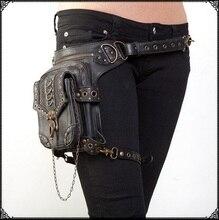 Multifunkcionális katonai vintage Man Woman Waist Pack Fegyverek és Ride lábzsák vízálló Drop Utility Thigh tasak