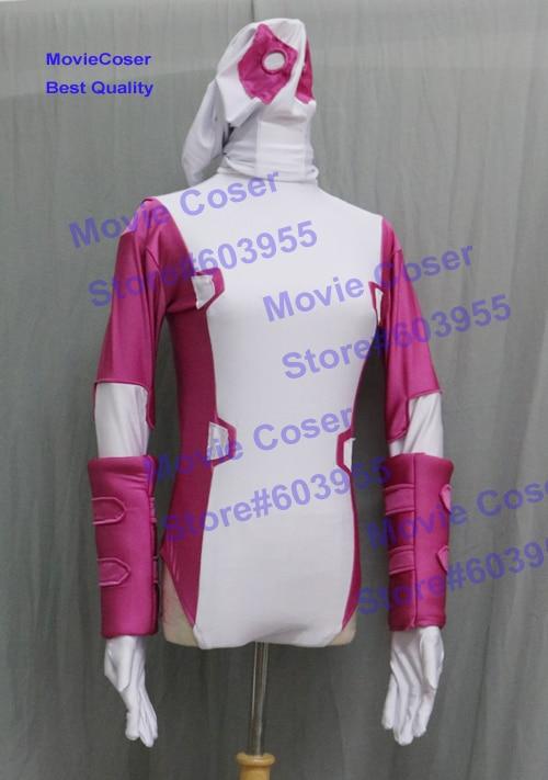 MovieCoser Custom Made GwenPool Costume Comic Lady Deadpool Suit Rosa - Disfraces - foto 4