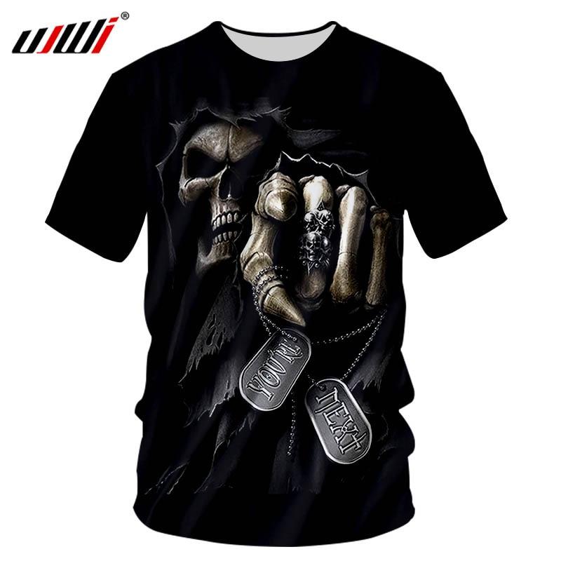 UJWI Cool Brand 3D Printed T-shirts Men Plus Size ...
