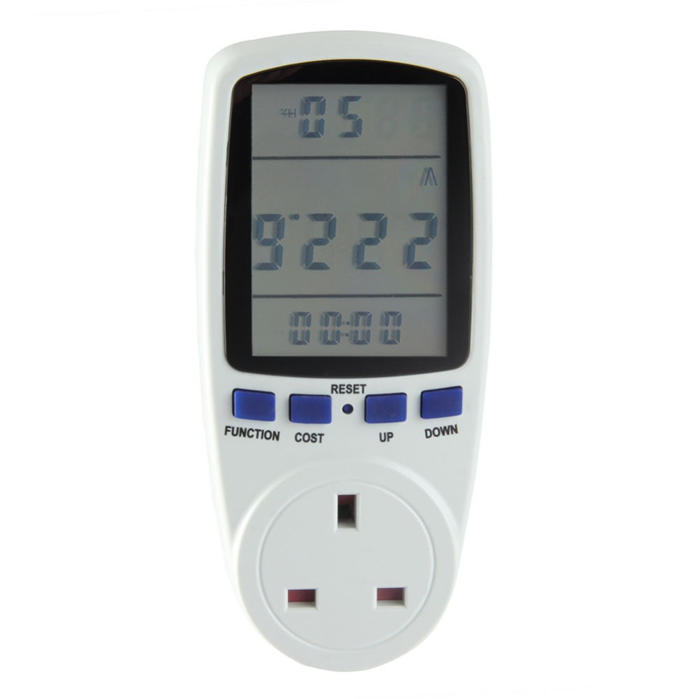 Smart Home Plug Power Meter Digital Volt Voltage Power Analyzer Electronic Usage Monitor Power Energy Meter UK Plug ...