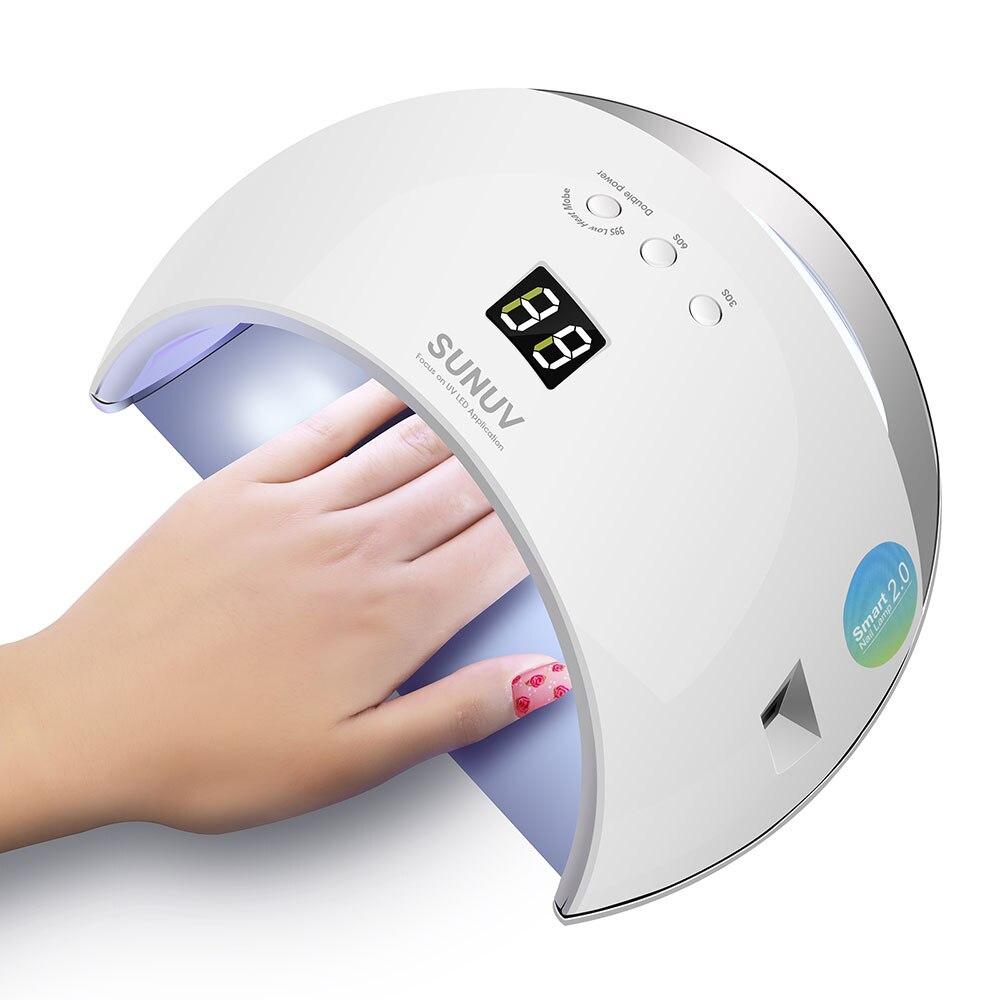 SUNUV SUN6 Smart Lampe Nail led lampe UV Sèche-Métal Fond minuteur lcd Multicolors pour Durcissement UV Gel Vernis À Ongles outils de Nail art - 2