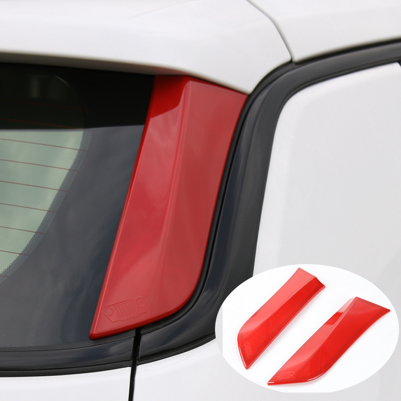 For Jeep Compass 17+ Exterior Car Rear Tail Window Windshield Side Trim Decorative Sequins Cover Sticker 2Pcs/Set ABS