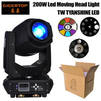 Gigertop Stage Light 200W Led Moving Head Light DMX512 Control 6/18 Channels 3 Facet Prism/6 Row Prism Optional Power Con In/OUT
