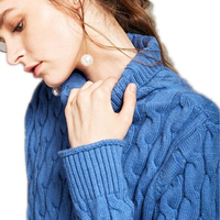 2017 High Necked Twist Sweater Women Autumn And Winter Loose Korean Version Of The Cashmere Sweater