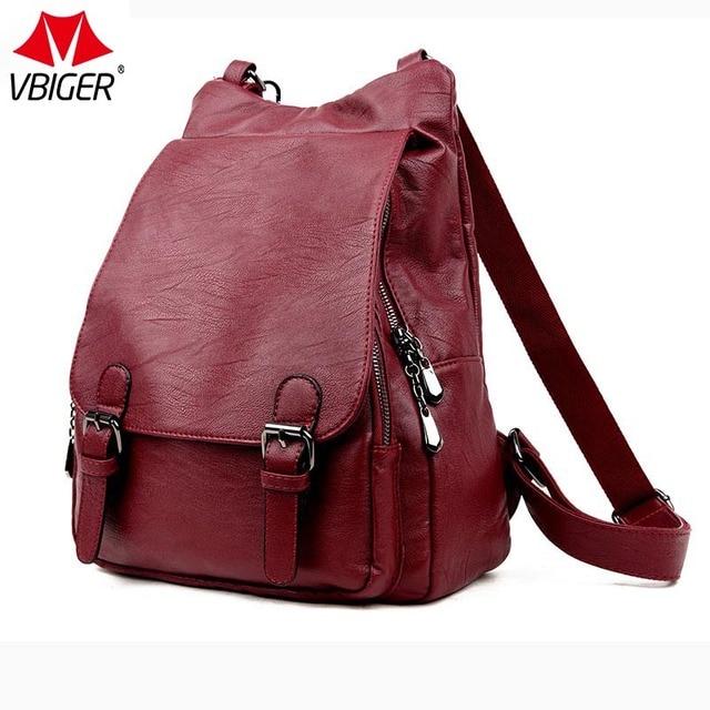 7245b6665b49 Vbiger Women Backpacks Leather Female Shoulder Bag Backpack High Quality Women  Bag College Wind School Bag Backpack Girl