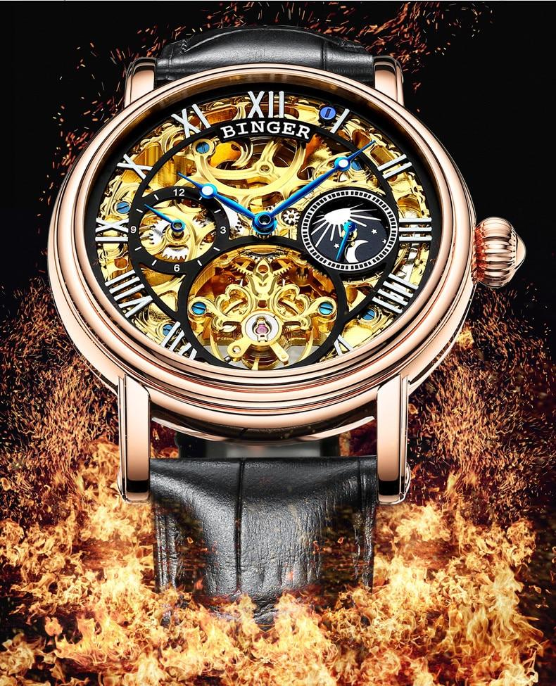 f5d0039ab96 Relógios de homens Top Marca de Luxo Esqueleto Tourbillon Relogio masculino  à prova d  água relógios de Pulso Mecânicos ...