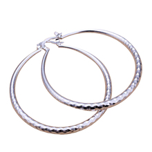 Jewelry Plated Big Mosaics Earring Diameter:40MM  Silver