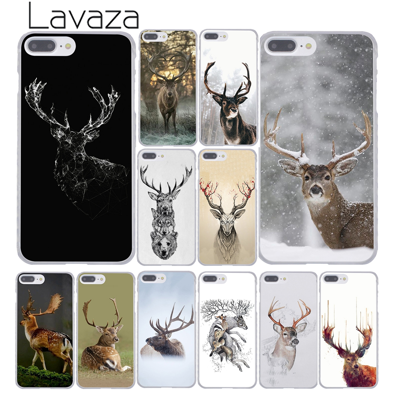 Lavaza Minimalist animal deer Minimalistic animals deer Hard Phone Case for Apple iPhone ...