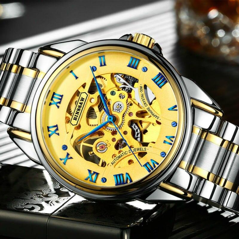 BINSSAW mados prabangos prekės ženklo vyrų laikrodžiai 2018 - Vyriški laikrodžiai - Nuotrauka 2