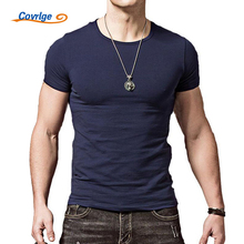 Covrlge T Shirt Men 2018 New Arrival Summer Fashion Casual Short-sleeved Slim Men T-shirt Brand Casual T-shirts Tops Tees MTS408