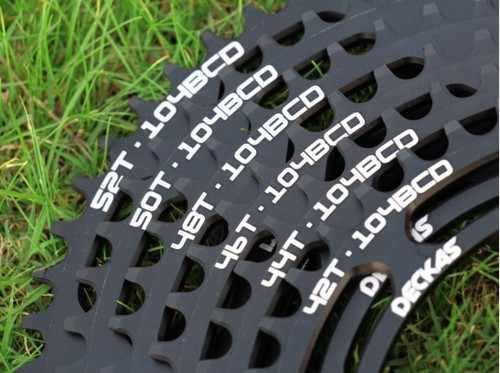 Deckas 104bcd 40/42/44/46/48/50/52 t 산악 자전거 chainwheel mtb 자전거 crankset 알루미늄 chainring