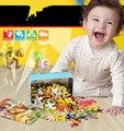 60 pçs/set de madeira quebra-cabeça dos desenhos animados brinquedo pacote de ferro puzzles para crianças educação brinquedos Montessori brinquedos de alta qualidade