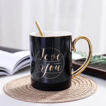 Valentines day gift Coffee mug cup with Spoon Anniversary present for husband wife gift for girlfriend boyfriend 5