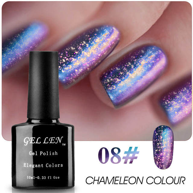 Gel Len 1pcs Chameleon Color Nail Gel Polish UV Soak Off Long Lasting Gel Varnish Led Gel Varnish DIY Nail Art