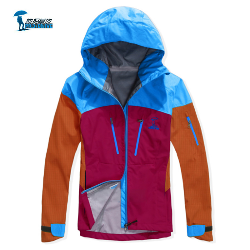 Protective 2016 New Spring Autumn Waterproof Softshell Jacket Men Women Outdoor Hiking Camping Couples Hooded Jackets Windproof 2017 new softshell outdoor jacket women men lovers winter autumn waterproof windproof hiking jackets fleece hooded mountain wear