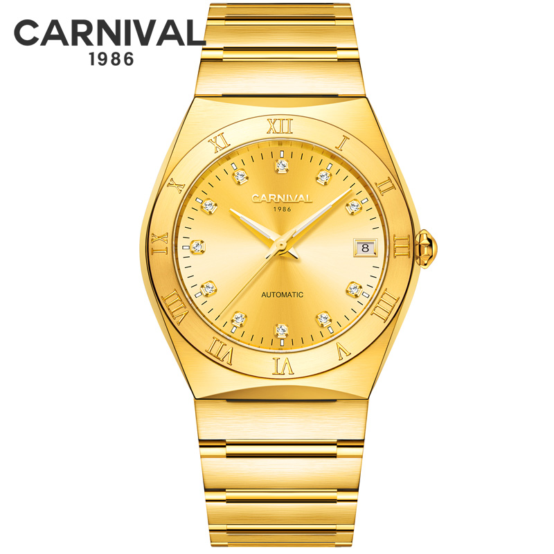 CARNIVAL Luxury Mechanical Watch Men Automatic Wristwatch MIYOTA Movement Waterproof Watches Fashion Sapphire Crystal Clock New  - buy with discount