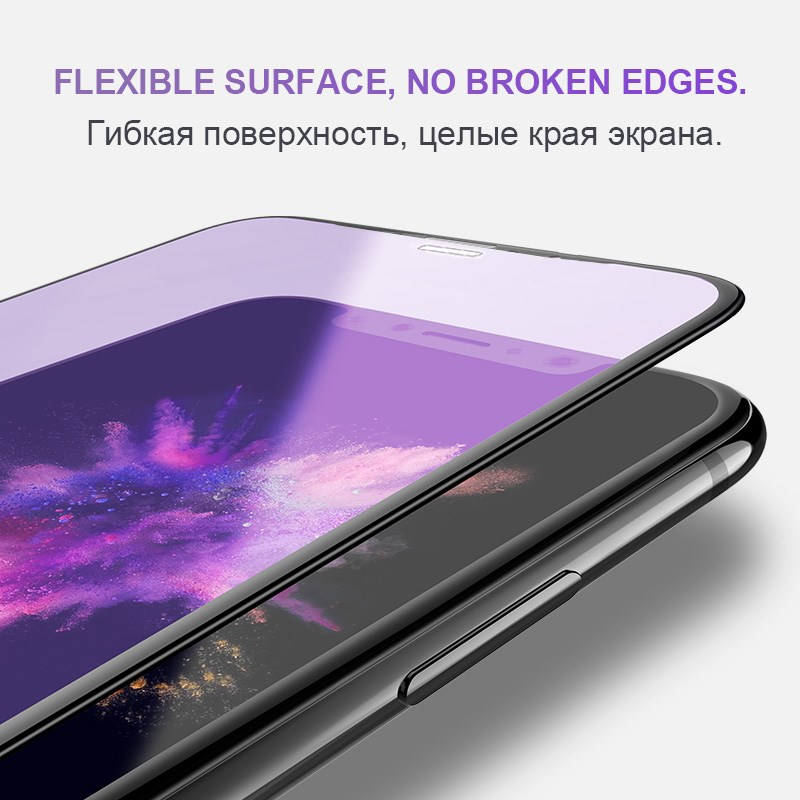 Image 3 - 0.23mm 3D Curved Tempered Glass for iPhone X RONICAN Soft Edge High Definition Anti Blue Light Screen Protector for iPhone XS-in Phone Screen Protectors from Cellphones & Telecommunications