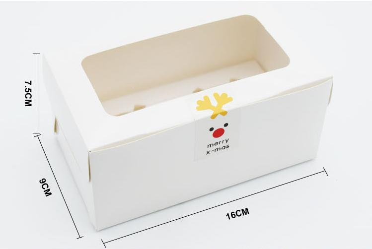 50pcs/lot 16*9*7.5cm White Paperboard 2 Cupcake Boxes DIY