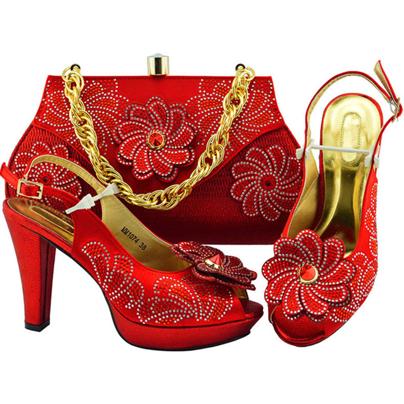 Appliques Zitrone Schuh Taschen Tasche Entsprechen lemon Mit Party royal Neueste red Set Schuhe Zu Green Gold Afrikanische purple Grün Italienische Und Mode peach Stil Blue P7q8a