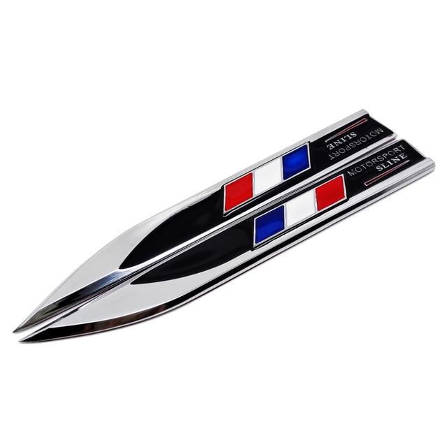 Us 891 19 Offmetal France Car Fender Side Badge Sticker Emblem Decals For Bmw E46 E90 E39 Renault Peugeot 407 207 308 508 307 Mini Cooper Vw In