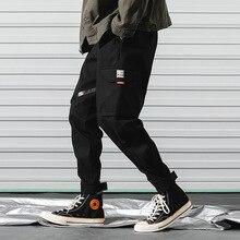 2019 new casual pants trend street multi-pocket men's brand men's running pants leggings pencil stretch pants men's pants