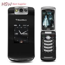 Непосредственно продажи 100% Оригинал Blackberry 8220 Pearl Флип Мобильный Телефон 2.6 «TFT Экран 2.0MP Камера GSM WI-FI Восстановленное
