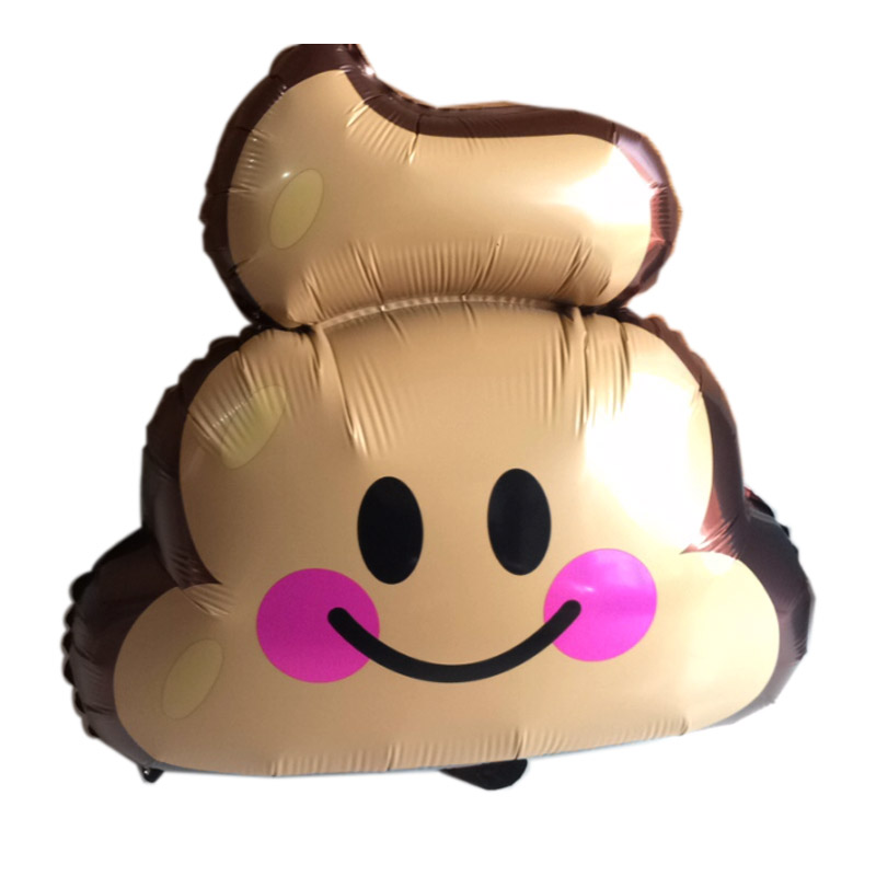 PHLUMY 49*60cm Poop face foil balloon Expression Symbol Foil Balloons Birthday Bachelor Party Decorations Supplies Globos