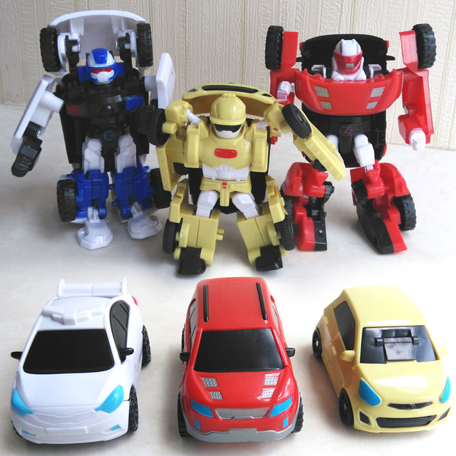3 Pcs Lot Korea Kartun Tobot Transformasi Robot Mobil Mainan