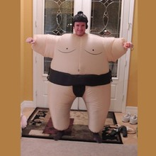 2015 newest Inflatable sumo costume Halloween party fancy costume animal costume for adults with free shipping