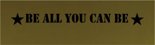 wall decal art sticker quote vinyl be all you can be army