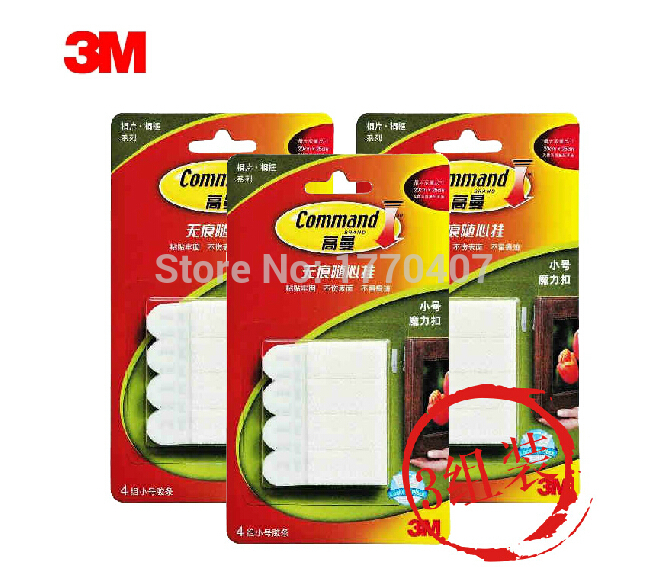 36 Pack 3m Command Damage Free Small Picture Hanging Strips 4 Sets Mirror Magic Dual Lock In Tape From Home