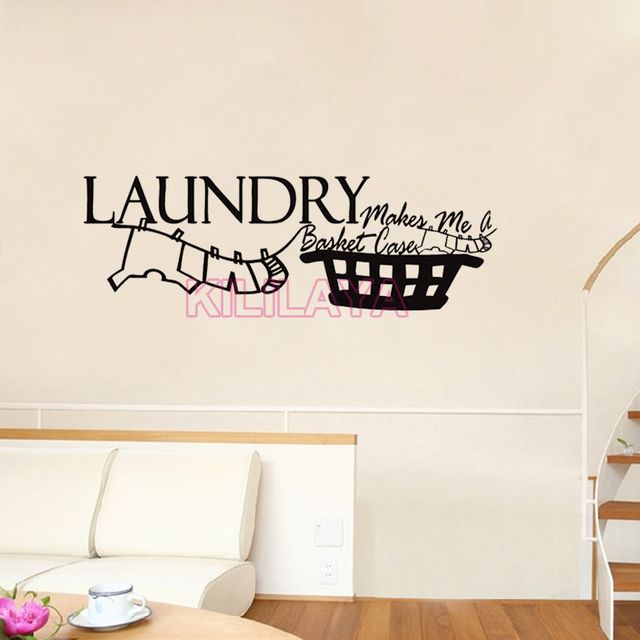Laundry Room Vinyl Impressive Vinyl Wall Stickers For Laundry Room Makes Me A Basket Case Mural Decorating Inspiration