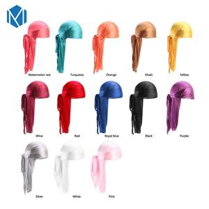 M MISM Satin Men'S Durags Hat Women Elastic Headband