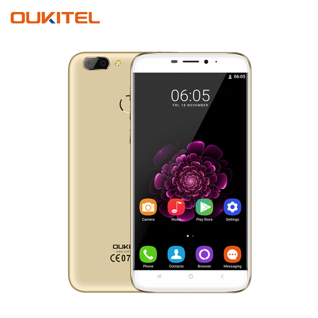 Oukitel U20 Plus 5.5 Inch FHD Screen Smartphone 2GB RAM+16 GB ROM Fingerprint Cell Phone MTK6737T Quad-core Mobile Phone