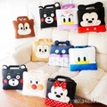 Cute Mickey Mouse Minnie Mouse Donald Duck bread Superman Kumamon Bear cartoon Plush toys pillow with Blanket